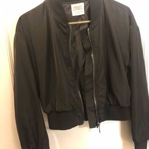 Ashley By 26 International Jackets & Coats - Ashley Outerwear Black Bomber Jacket